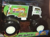 Monster Jam WILL TRASH IT ALL REFUSE Truck Large 1/24 scale Hot Wheels BNIB 2020