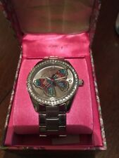 NWT - Betsey Johnson BJ00048-233 Crystal Butterfly Women's Watch