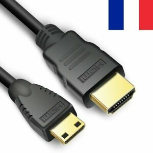 Nouveau 1 m Full HD 1080p Mini HDMI Type C Mâle Vers Standard Mâle Cordon Câble