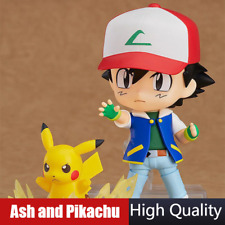 Pokemon Ash Nendoroid 800 Satoshi & Pikachu Cute BJD Figure Action Model Toys