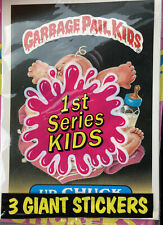 5 Unopened 1986 Topps Garbage Pail Kids Giant Series1  Stickers With The Disolay