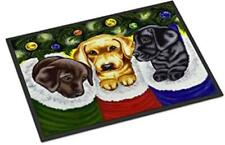 "Caroline's Treasures DOG Christmas Stocking 18"" x 27"" PUPPIES Indoor Outdoor MAT"
