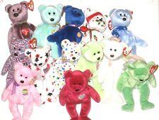 Ty Beanie Baby Valentina Bear P.E. Pellets 1998 1999 Original Lot Of 13