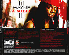 Lil Wayne: A Milli PROMO MUSIC AUDIO CD Lollipop Static Clean Explicit Acappella