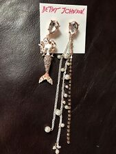 Betsey Johnson Crabby Couture Mermaid Mismatch Drop Dangle Earrings
