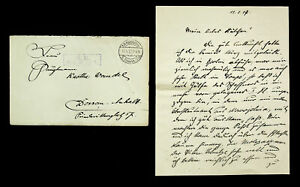 GERMANY 1917 WWI FELDPOST COVER TO DESSAU W/ LETTER