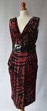 Ladies Star by Julien Macdonald Black & Red Belted dress Size Uk 14