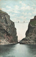Carrick-a-rede, Co. Antrim, N.Ireland Early 20th Century Vintage Postcard (1908)