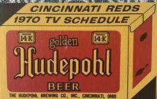 1970 Cincinnati Reds / Hudepohl Beer Pocket Schedule