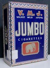 1930's Empty Box of V.M.J. Jumbo Cigarettes  - Pennsylvania
