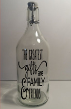 Wine Bottle Sticker The greatest gifts are family and friends vinyl decal