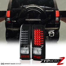 2006-2010 Hummer H3 Black L.E.D Neon Tube Tail Light Brake Signal Lamp PAIR NEW