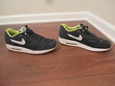 Used Worn Size 12 Nike Air Max 1 PRM Shoes Black, White, Cyber, Cool Grey