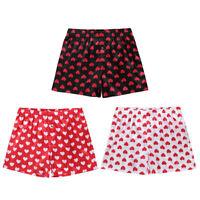 Sexy Men's Satin Frilly Boxer Briefs Shorts Sissy Panties Loose Short Pants