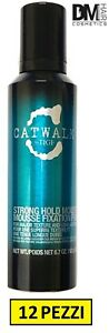 12 PEZZI TIGI CATWALK STRONG HOLD MOUSSE 200ml MOUSSE FORTE SCHIUMA RICCI VOLUME