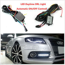 Universal LED Daytime Running Light Automatic ON/OFF Controller Box Relay Harnes