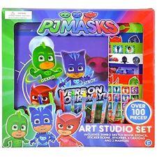 Disney PJ Masks Art Studio Set Sketch Book, Crayons, Stickers and Markers