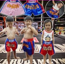 Muay Thai boxing Shorts Sport Young Original Red Kid Baby Clothes 4month-3years