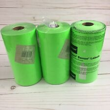 Paxar Fluorescent Green Labels For Monarch 1130 Pricing Gun 3 Sleeves = 30 Rolls