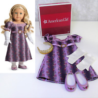 NEW American Girl Doll CAROLINE HOLIDAY GOWN Outfit Dress Shoes Gloves Braid BOX