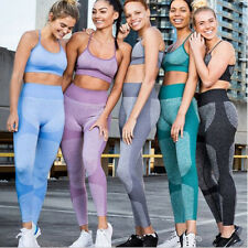 Women Seamless Yoga Set Fitness Sports Suits Gym Clothing Crop Top and Leggings