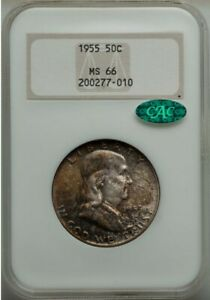 1955 Franklin 50C MS66 NGC. CAC
