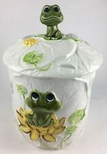Vintage Mid Century Cookie Jar Frogs Ceramic Neil The Frog 1977