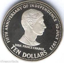 Bahamas 10 Dollari 1978 argento 50 Aniv. Indipendenza @@ @@Eccellente@@ @@