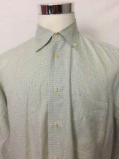 Gran Sasso Mens Button Down Plaid Check Shirt Sz Large L Made In Italy