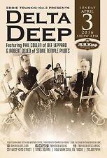 """DELTA DEEP"" 2016 NEW YORK CONCERT TOUR POSTER- Def Leppard, Stone Temple Pilots"