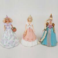 Hallmark Keepsake Barbie Ornaments Set 3 - 1995 & 1997 Springtime & Rapunzel