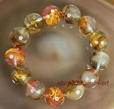 cadeaux de Noël !  Charmant bijoux bracelet en Tourmaline gemme, 18cm