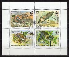Bulgaria - 1989 WWF Bats - Mi. 3741-44 KB FU