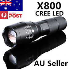 SALE X800 5000LM CREE LED Military Grade G700 Zoom Rechargeable Flashlight Torch