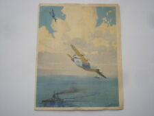 CWW2 VINTAGE SUNDERLAND FLYING BOAT CHRISTMAS GREETINGS CARD
