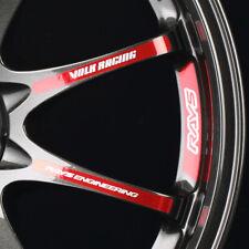 Red JDM Japan Rays Engineering VOLK Racing CE28 Club Wheel decals sticker 12pcs