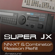 MKS70 & SUPER JX10 REASON REFILL 128 COMB & NNXT 1024 SAMPLES 24BIT MAC PC TRAP