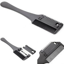 Pro Hair Razor Comb Black Shaving Cutting Thinning Comb Supply HOT SELL