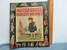 "1922 Children's Book ""Mother Goose Nursery Rhymes "" Linenlike * No. 2000"