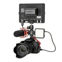 hemistin LED Camera Light Rechargeable Fill Light with Universal 1//4 Interface Cold Shoe Gimbal Accessories for Most Camera