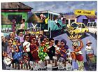FRAMED CANVAS ART PRINT PAINTING A DAY IN THE CITY AFRICAN AFRICA CONGO