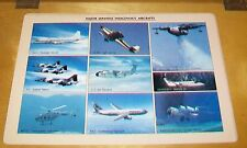 MAJOR JAPANESE INDIGENOUS AIRCRAFT PUBLICITY TABLE MAT. SEPT 1984 YS-11 FA-200