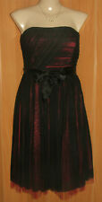 NEW/TAGS DESIGNER Black Over Red, Strapless Cocktail Dress Size 10 RRP $219.00