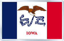 IOWA USA FLAG FRIDGE MAGNET SOUVENIR IMAN NEVERA