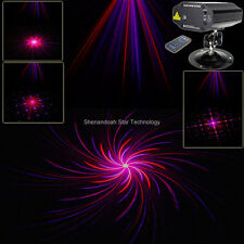 New Red Purple Laser 8 Patterns Projector Remote DJ Party holiday Xmas Bar Light