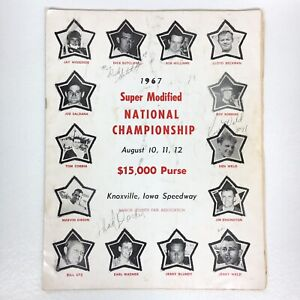 1967 Super Modified Nat'l Championship Sprint SIGNED Dick Sutcliff Iowa Speedway