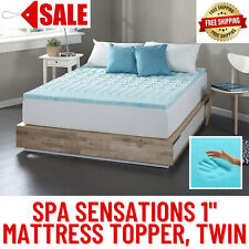 "Spa Sensations Zoned Fusion Gel Memory Foam 1"" Mattress Topper, Twin,Comfortable"