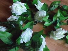 Rose Draht Blüten 150cm Rosengirlande Vintage Girlande Deko Blumengirlande Rosa Dauerhafter Service Bastel- & Künstlerbedarf Hochzeitsdekoration