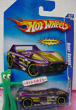 2009 Hot Wheels NIGHT BURNER #93/190~variant PURPLE;yellow;40~Special Features