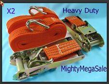 2 x Heavy Duty  8M 3000kg Ratchet Strap Tie Down Sets